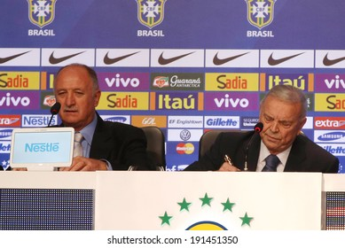 RIO DE JANEIRO, BRAZIL, May 7, 2014: coach of the Brazilian national football team (LUIZ FELIPE SCOLARE), in calling players for the World Cup in Brazil.