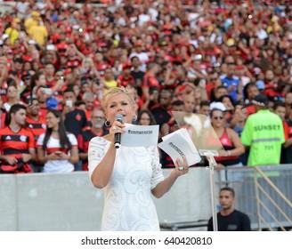 Rio de Janeiro - Brazil May 13, 2017, opening party of the Brazilian football championship at the Maracanã stadium .in the photo the actress Xuxa