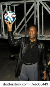 Rio de Janeiro - Brazil May 25, 2014, Pele world's biggest soccer player, told a news conference about the soccer World Cup in Rio de Janeiro