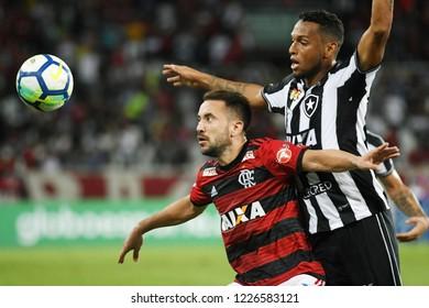 Rio de Janeiro, Brazil, November 10, 2018. Football player Everton Ribeiro do Flamengo, during the Botafogo vs. Flamengo match for the Brazilian championship at Engenhão Stadium
