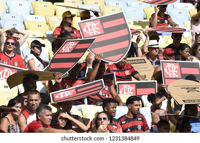 Rio de Janeiro - Brazil November 15, 2018, soccer fans Flamengo, during the match between Flamengo and Santos in the stadium of Maracanã