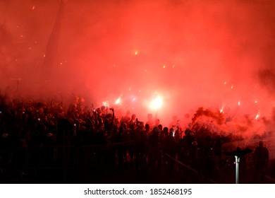 Rio de Janeiro, Brazil, November 11, 2020. Flamengo x São Paulo for the Copa do Brasil, at Maracanã stadium.