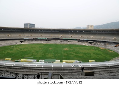 Rio de Janeiro, Brazil, November 30, 2010 - start of works to reform the Maracana stadium for the World Cup Football 2014