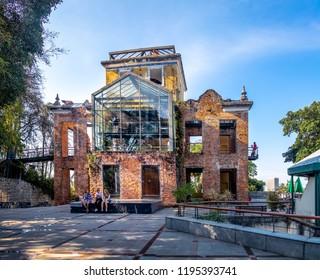 Rio de Janeiro, Brazil - Oct 24, 2017: Parque das Ruinas in Santa Teresa Hill, a Public Park with ruins of a mansion - Rio de Janeiro, Brazil