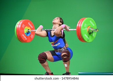 Rio de Janeiro - Brazil October 10, 2016, Weightlifting competition