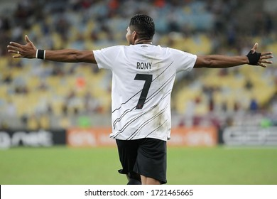 Rio de Janeiro, Brazil, October 17, 2019. Football player Rony of the Athletico-PR team, during the game against Fluminense for the Brazilian Championship at Maracanã stadium.