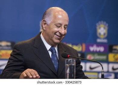 RIO DE JANEIRO, BRAZIL - October 21, 2015:  Marco Polo Del Nero during convocation of the Brazilian national football games of the FIFA World Cup 2018 in Russia