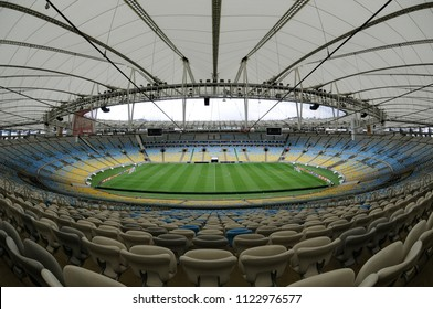 Rio de Janeiro, Brazil, September 12, 2015. Stadium of Maracanã empty before the game Flamengo vs. Fluminense by the Brazilian soccer championship in the city of Rio de Janeiro.