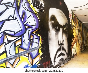 RIO DE JANEIRO, BRAZIL - September 15, 2012: art on the walls - an expression of universal language
