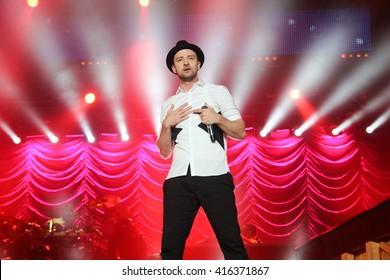 RIO DE JANEIRO, BRAZIL - SEPTEMBER 15: Singer Justin Timberlake performs during the Rock in Rio Festival in Rio de Janeiro