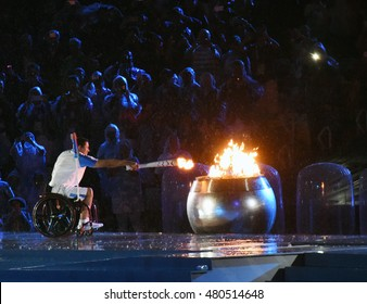Rio de Janeiro, Brazil - September 7, 2016: Opening ceremony of the Paralympics Games 2016 in the Maracana stadium