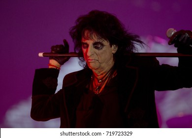 Rio de Janeiro, Brazil   September 21th, 2017-  US singer Alice Cooper performs during  the  Rock in Rio 2017 concert