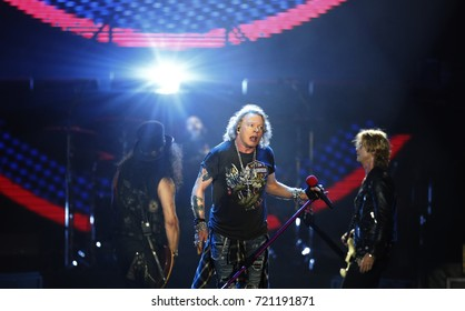 Rio de Janeiro, Brazil   September 23th, 2017-  US rock band Guns N´´Roses Axl Rose   performs during  the  Rock in Rio 2017 concert