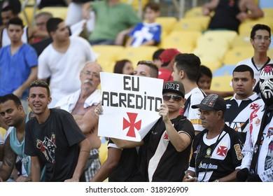 RIO DE JANEIRO, BRAZIL -Setember  20 , 2015 Soccer match between Vasco and Sport   at Maracana during the national  Championship. case number ; 01851135