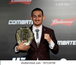 Rio de Janeiro - Brazil, UFC 212 fight between featherweight: Max Holloway vs. Jose Aldo in Rio de Janeiro on June 4, 2017.