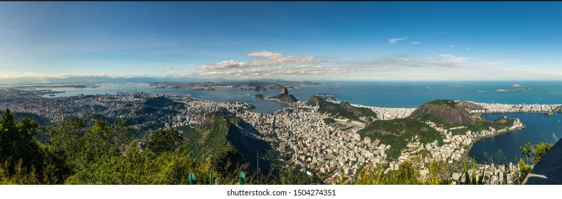 Rio de Janeiro, Brazil, view from the CHrist the Redemtor stuate at a sunny day