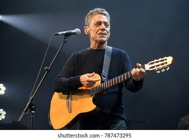Rio de Janeiro, Brazil.5 January 2012. Cantor Chico Buarque de Holanda during his show at Vivo Hall in the city of Rio de Janeiro.