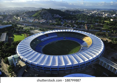 Rio de Janeiro, Brazil-April 11, 2010: Maracana Stadium, world famous stadium, originally built in 1950 for FIFA World Cup, will host 2014 World Cup and opening & closing ceremony of 2016 Rio Olympics