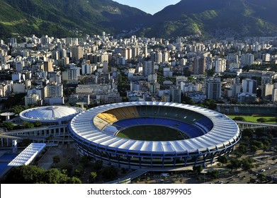 Rio de Janeiro, Brazil-April 11, 2010: Maracana Stadium, world famous stadium, originally built in 1950 for FIFA World Cup, will host 2014 World Cup and opening & closing ceremony of 2016 Rio Olympic