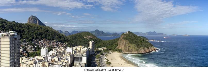 Rio de Janeiro Cityscape - Copacabana Beach - Leme - Sugar Loaf