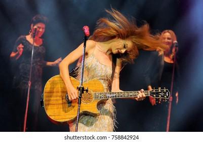 Rio de Janeiro, December 8, 2009. Singer Taylor Swift during her show at the HSBC Arena in Rio de Janeiro, Brazil