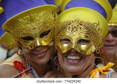Rio de Janeiro, February 11, 2012. The Revelers play during the Ipanema Band parade, during the street carnival of the city of Rio de Janeiro, Brazil