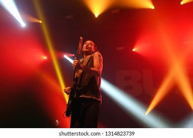 Rio de Janeiro, February 15, 2019. Vocalist and Guitarist Gavin Rossdale, from the English rock band Bush, during a show at Km de Vantagens Hall in the city of Rio de Janeiro
