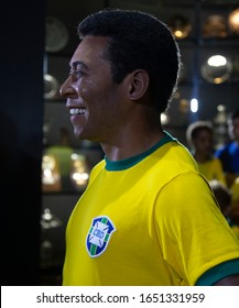 Rio de Janeiro, February 20th, 2020   The wash statue of Brazilian soccer player champion Pele is seen at the Soccer Museum in Rio.