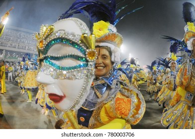 Rio de Janeiro, February 28, 2017. Parade of the Samba Schools during the Carnival of Rio de Janeiro, considered the largest carnival in the world, in Sambodromo, in the city of Rio de Janeiro, Brazil