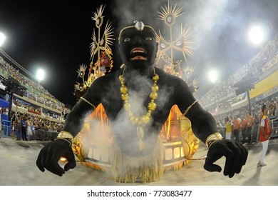 Rio de Janeiro, February 8, 2016. Samba Schools Parade during the Rio de Janeiro Carnival, considered the largest carnival in the world, in Sambodromo, in the city of Rio de Janeiro, Brazil.