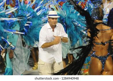 Rio de Janeiro, February 9, 2018. Parade of the Samba Schools of the Special Group during the Carnival of Rio de Janeiro, considered the largest carnival in the world, in the Sambódromo