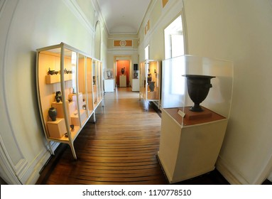 Rio de Janeiro, January 10, 2010. Interiror and pieces of the collection of the National Museum. Historical Site where the Royal Family lived in the century. XIX.Located in Quinta da Boa Vista, north