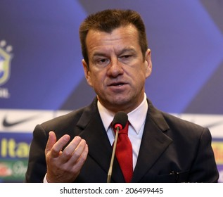 Rio de Janeiro, July 22, 2014 - Presentation of the new manager of the Brazilian national football team. Sr.Dunga. NO USE IN BRAZIL.