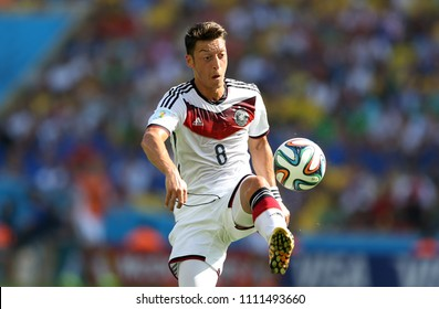 Rio de Janeiro, July 4, 2014 Football player Mesut Ozil, during the match between France and Germany, for the 2014 world championships at the Maracanã stadium in Rio de Janeiro, Brazil.
