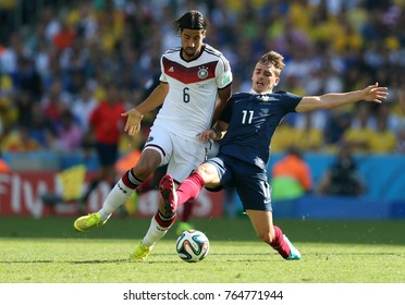Rio de Janeiro, July 4, 2014. French soccer player Griezmann, playing for France and Germany during the 2014 World Cup at the Maracanã Stadium in Rio de Janeiro, Brazil.