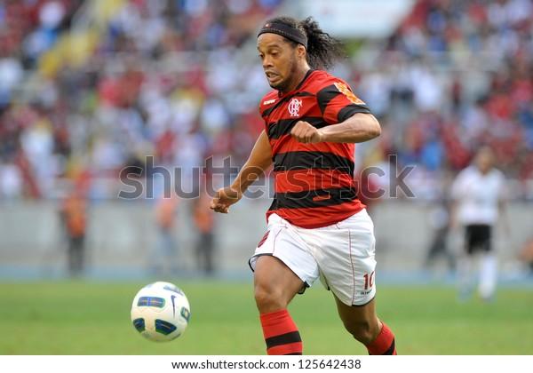 RIO DE JANEIRO - JUNE - 05: Ronaldinho Gaucho during brazilian championship match between Flamengo vs Corinthians, june 05, 2011 in  Engenhao Stadium, Rio de Janeiro, Brazil