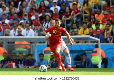 Rio de Janeiro, June 18, 2014. Soccer player Eden Hazard during the match Russia vs Belgium for the 2014 World Cup at the Maracanã Stadium in Rio de Janeiro, Brazil