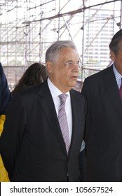 RIO DE JANEIRO - JUNE 20: Former President of Brazil Fernando Henrique Cardoso walks through the Event Humanidade 2012 on June 20, 2012 in Rio de Janeiro, Brazil