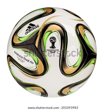 size 40 fa2c3 740d0 RIO DE JANEIRO - JUNE 20, 2014  Adidas Brazuca World Cup 2014 Football, The  Official FIFA Matchball for the final game of 2014 World Cup. - Image