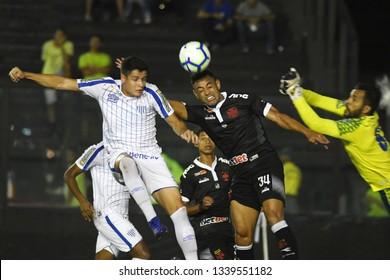 Rio de Janeiro, March 14, 2019. Soccer player Werley from the Vasco team, during the match Vasco x Avaí for the Brazil Cup at the Estadio de San Januário.