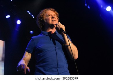 RIO DE JANEIRO, MARCH 17, 2016, BRAZIL: Mick Hucknall and his band Simply Red during concert of Big Love World Tour at Metropolitan Music Hall, Rio de Janeiro.