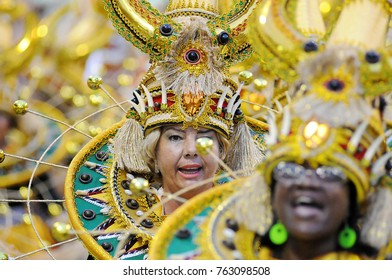Rio de Janeiro, March 2, 2014. Parade of the Samba Schools during the Carnival of Rio de Janeiro, considered the largest carnival in the world, in Sambodromo, in the city of Rio de Janeiro, Brazil.