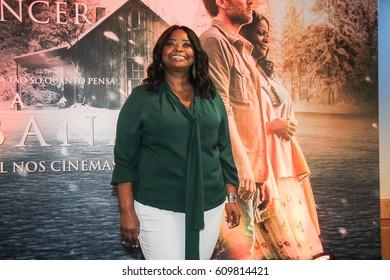 RIO DE JANEIRO, MARCH 27, 2017: Actress Octavia Spencer attends the 'The Shack' (A Cabana) press conference at Windsor Hotel, Rio de Janeiro