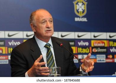 RIO DE JANEIRO, March 29, 2014: Technical manager selection Brazilian football (LUIZ FELIPE SCOLARE), in a press conference.