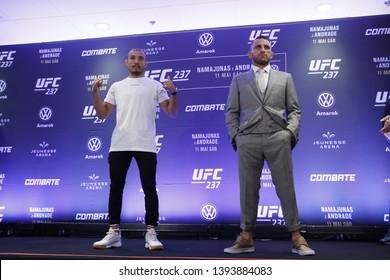 Rio de Janeiro, may 09, 2019, Brazil: Portrait of fighter Jose Aldo during UFC press conference, Rio de Janeiro.