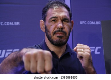 Rio de Janeiro, may 09, 2019, Brazil: Portrait of fighter Rogerio Minotouro Nogueira during UFC press conference, Rio de Janeiro.