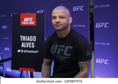 Rio de Janeiro, may 09, 2019, Brazil: Portrait of fighter Thiago Alves during UFC press conference, Rio de Janeiro.