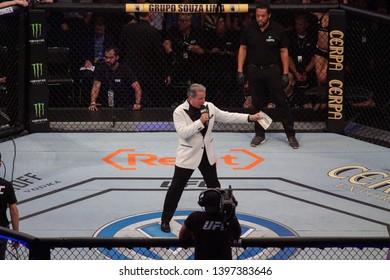 RIO DE JANEIRO, MAY 11, 2019: Announcer Bruce Buffer during UFC 237