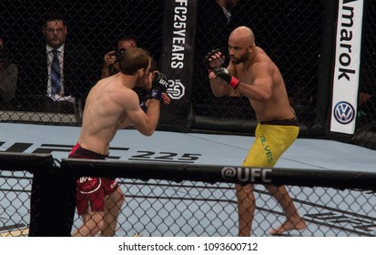 RIO DE JANEIRO, MAY 12, 2018, BRAZIL: Fighters during fight in Ultimate Fighter Champinonship (UFC 224), Rio de Janeiro.