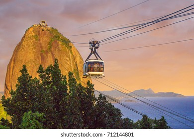 Rio de Janeiro. Mount Sugarloaf.  Mount Sugarloaf is also the hallmark of Rio de Janeiro, like the statue of Christ the Redeemer. To climb the mountain by cable way on cable cars.